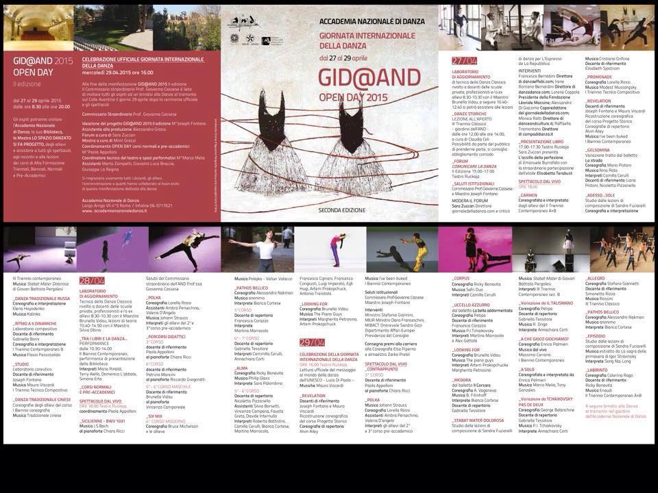 Programma G.I.D. 2015